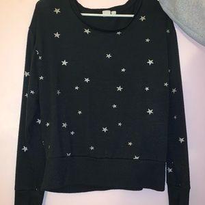 Gap Black Sweater with Star Pattern